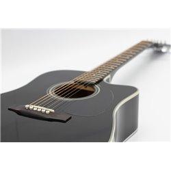 Westerngitarre Sigma Guitars DMC1ST BK schwarz