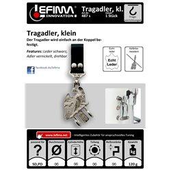 Tragevorrichtungen - Tragadler, klein für Koppel, Leder schwarz