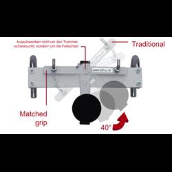 Tragevorrichtungen - Plug & Play-Adapter für 7700, Snare Drums, weiß